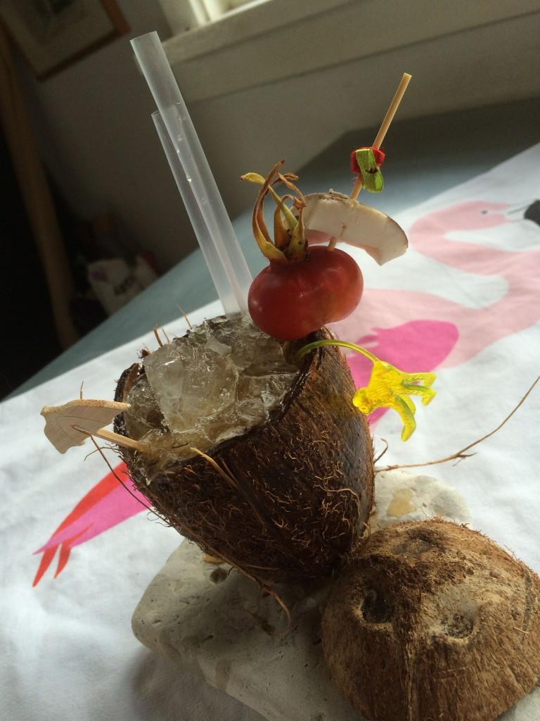 lækkende kokosnød